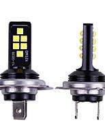 Недорогие -2 шт. Автомобиль h7 светодиодный супер яркий противотуманный свет 12 3030 smd лампа автомобильные фары 6000 К белый красный янтарный замена для вождения лампы автомобильной