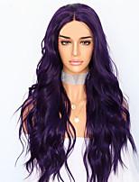 Недорогие -Парики из искусственных волос Естественные кудри Стиль Стрижка каскад Без шапочки-основы Парик Фиолетовый Розовый / Фиолетовый Искусственные волосы 68~72 дюймовый Жен. Новое поступление Фиолетовый