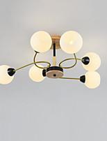 Недорогие -JSGYlights 6-Light промышленные Потолочные светильники Рассеянное освещение Окрашенные отделки Металл Стекло Новый дизайн 110-120Вольт / 220-240Вольт