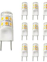 Недорогие -10 шт. 2 W Двухштырьковые LED лампы 200 lm G8 T 17 Светодиодные бусины SMD 2835 Новый дизайн Тёплый белый Белый 110-120 V