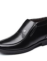 Недорогие -Муж. Зимние сапоги Полиуретан Зима На каждый день Ботинки Сохраняет тепло Ботинки Черный