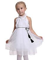Недорогие -Принцесса Платья Детские Девочки Хэллоуин Хэллоуин Фестиваль / праздник органза Белый Карнавальные костюмы