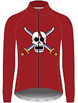 Недорогие -21Grams One Piece Муж. Длинный рукав Велокофты - Красный Велоспорт Джерси Верхняя часть Устойчивость к УФ Дышащий Влагоотводящие Виды спорта 100% полиэстер Горные велосипеды Одежда / Слабоэластичная