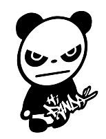 Недорогие -Автомобиль панда шаблон водонепроницаемый стильный прохладный наклейки