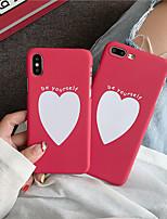 Недорогие -чехол для яблока iphone xs / iphone xr / iphone xs max матовый / задняя крышка с рисунком, играющая с логотипом apple / heart pc для iphone 6/7/8 / 6plus / 7plus / 8plus / x / xs / xr / xs max
