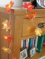 Недорогие -6 м 40 светодиодов свет шнура светодиодный кленовый лист фея гирлянды огни фонарь лампа вечеринка в саду бар макет сцены украшения полосы