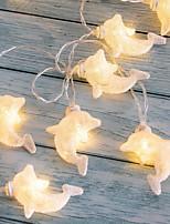 Недорогие -3м свет шнура дельфина 20 светодиодов теплый белый дом декоративные 5 в 1 комплект