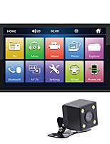 Недорогие -7-дюймовый FHD автомобиль установлен 2-стороннее зеркало ссылка MP4 MKV MP5 USB SD-плеер Bluetooth реверсивное изображение для Apple Iphone Airplay Android Тойота Аванца Innova Hilux (доступно только