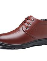 Недорогие -Муж. Зимние сапоги Полиуретан Зима На каждый день Ботинки Сохраняет тепло Ботинки Черный / Коричневый