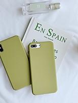 Недорогие -чехол для яблока iphone xs / iphone xr / iphone xs max матовая задняя крышка сплошной цветной ПК для iphone 6/7/8 / 6plus / 7plus / 8plus / x