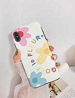 Недорогие -Кейс для Назначение Apple iPhone XS / iPhone XR / iPhone XS Max Ультратонкий / С узором Кейс на заднюю панель Цветы ТПУ