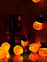 Недорогие -Brelong Хэллоуин тыква фонарь 20 светодиодные батареи на батарейках огни строки праздник украшения открытый сад терраса рождественская елка вечеринка