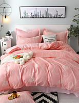 Недорогие -Светло-синий Геометрический принт / Цветочные / ботанический Полиэстер / Хлопок С принтом 1 шт.Bedding Sets