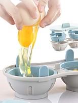 Недорогие -микроволновая печь яйцо браконьер посуда двойная чашка двойная пещера дизайн большой емкости яйцеварка окончательная коллекция браконьерство