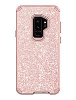 Недорогие -Кейс для Назначение SSamsung Galaxy S9 / S9 Plus Защита от удара Кейс на заднюю панель Сияние и блеск ПК