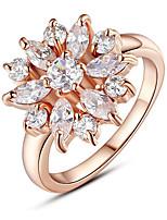 Недорогие -2019 мода новое кольцо из розового золота подходит для женщин с ааа кубического циркона обручальные украшения 678 9