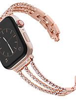 Недорогие -Новый женский алмазный ремешок для часов Apple Watch 40mm / 44mm / 38mm / 42mm iwatch серии 4 3 2 1 ремешок из нержавеющей стали спортивный браслет