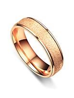 Недорогие -Для пары Кольца для пар Кольцо 1шт Серебряный Розовое золото Нержавеющая сталь Круглый Винтаж Классический Мода обещание Бижутерия