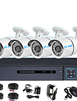 Недорогие -HDMI 4ch HD DVR набор коаксиальный аналоговая камера видеонаблюдения 1080 P магазин монитор удаленного одна машина 2 миллиона