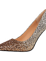 cheap -Women's Heels Stiletto Heel Pointed Toe Sequin Synthetics Sweet / British Fall / Spring & Summer Black / White / Champagne / Wedding / Party & Evening