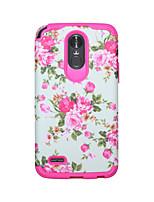 Недорогие -Кейс для Назначение LG LG StyLo 3 Защита от удара / Защита от влаги Кейс на заднюю панель Пейзаж / Цветы ПК / силикагель