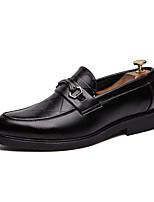 Недорогие -Муж. Кожаные ботинки Наппа Leather Весна лето Английский Мокасины и Свитер Нескользкий Черный / Для вечеринки / ужина
