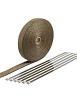 Недорогие -10 м * 2 рулона из базальтового волокна, коллектор для выхлопной трубы шириной 5 см, 10 длина трубы для мотоцикла, теплозащитная лента - размеры из титанового золота