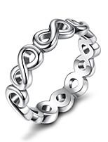Недорогие -Дисиния серебристого цвета 4мм от сердца к сердцу гладкая поверхность дешевые кольца женские свадебные украшения 3 размера оптом pa7213