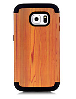 Недорогие -Кейс для Назначение SSamsung Galaxy S7 edge Защита от удара Кейс на заднюю панель Имитация дерева / Геометрический рисунок / Градиент цвета ТПУ / ПК