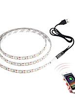Недорогие -Brelong 3528smd RGB свет полосы 5 м 300 светодиодный телевизор фоновый свет Bluetooth приложение управления с регулируемой яркостью голая доска не является водонепроницаемой