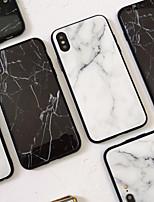Недорогие -Кейс для Назначение Apple iPhone XS / iPhone XR / iPhone XS Max Зеркальная поверхность / Ультратонкий / С узором Кейс на заднюю панель Мрамор ТПУ