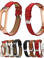 Недорогие -Ремешок для часов для Mi Band 3 / Xiaomi Band 4 Xiaomi Современная застежка Нержавеющая сталь / Натуральная кожа Повязка на запястье