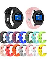 Недорогие -20 мм силиконовый ремешок замена браслет для icwatch 2 / ticwatch e умные часы аксессуары ремешок ремешок реверсивная пряжка