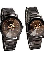 Недорогие -Для пары Нарядные часы Кварцевый Повседневные часы Аналоговый На каждый день Мода - Черный