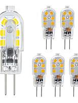 Недорогие -zdm g4 светодиодная лампа 6 упак. 2.5 Вт светодиодная двухконтактная база g4 10-20 Вт замена галогеновой лампы теплый белый / холодный белый ac220v