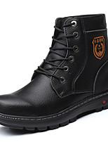 Недорогие -Муж. Армейские ботинки Полиуретан Зима Спортивные Ботинки Сохраняет тепло Ботинки Черный / Желтый