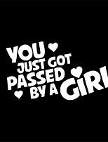 Недорогие -Вы только что прошли мимо девушки смешные буквы украшения автомобиля наклейки