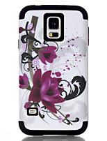 Недорогие -Кейс для Назначение SSamsung Galaxy S7 / S6 edge / S6 Защита от удара Кейс на заднюю панель Цветы ТПУ / ПК