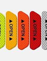 Недорогие -Автоматическая дверь автомобиля открытая наклейка светоотражающая лента предупреждение о безопасности наклейка царапинам предотвратить удар универсальный