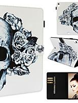 Недорогие -чехол для apple ipad pro 11 '' кошелек / визитница / с подставкой для всего тела декорации / череп / цветок из искусственной кожи