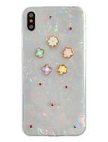 Недорогие -чехол для яблока iphone xs / iphone xr / iphone xs max ударопрочный / прозрачный / с цветочным рисунком на задней крышке для цветов iPhone 5 / 6s плюс iphone7 / 8 plus iphonex / xs max / xr