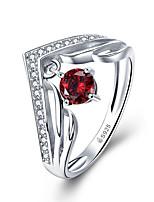 Недорогие -женское кольцо ааа кубического циркония 1 шт. серебро s925 стерлингового серебра сладкий ежедневно бижутерия размер 1.3 * 0.6 см