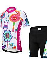 Недорогие -WEIMOSTAR Животное Мультипликация Птица Мальчики Девочки С короткими рукавами Велокофты и велошорты - Детские Пурпурный Велоспорт Наборы одежды Дышащий Влагоотводящие Быстровысыхающий Виды спорта