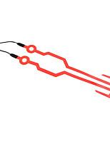 Недорогие -Мотоциклетный шлем сигнализатор El мигающий свет полоса бар пластины комплект для ночной езды