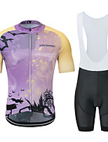 Недорогие -MUBODO Муж. С короткими рукавами Велокофты и велошорты-комбинезоны - Фиолетовый Велоспорт Наборы одежды Дышащий Влагоотводящие Быстровысыхающий Виды спорта Тюль Горные велосипеды Шоссейные велосипеды