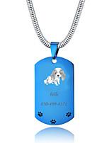 Недорогие -Персонализированные Индивидуальные Бассет-хаунд Теги для домашних животных Классический Подарок Повседневные 1pcs Синий Золотой Серебряный