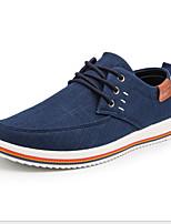 Недорогие -Муж. Комфортная обувь Полотно Лето Кеды Дышащий Черный / Темно-серый / Синий