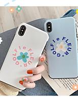 Недорогие -Кейс для Назначение Apple iPhone XS / iPhone XR / iPhone XS Max Ультратонкий / С узором Кейс на заднюю панель Мультипликация / Цветы ТПУ