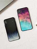 Недорогие -Кейс для Назначение Apple iPhone XS / iPhone XR / iPhone XS Max Зеркальная поверхность / Ультратонкий Кейс на заднюю панель Мрамор ТПУ