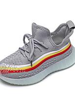 Недорогие -Девочки Flyknit Спортивная обувь Маленькие дети (4-7 лет) Удобная обувь Черный / Розовый / Серый Лето
